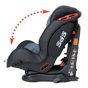 schienale reclinabile seggiolino auto foppapedretti isodinamyk nero