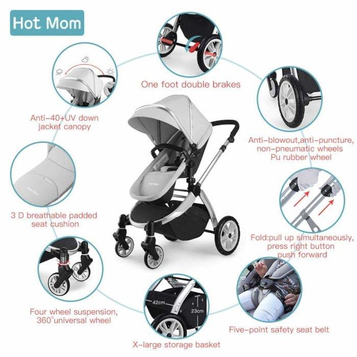 funzionalità hot mom passeggino buggy
